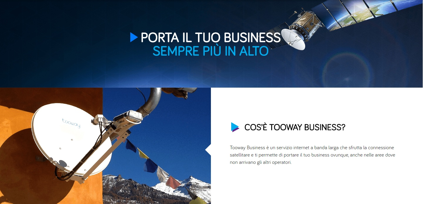 Eutelsat Broadband definisce nuovi standard di mercato con la nuova offerta tooway™ Business